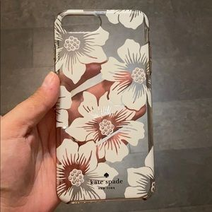 Kate Spade iPhone 7/8 + case with Crystals/Flowers